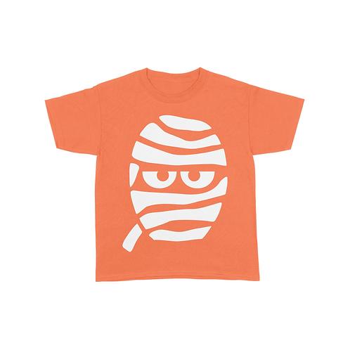 Youth Mummy Face T-Shirt - Orange