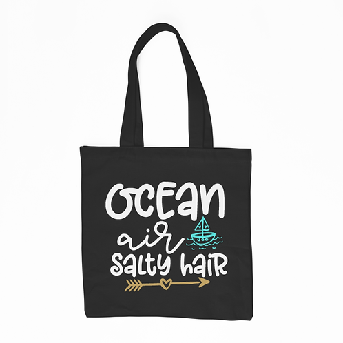 Ocean Air Salty Hair Tote Bag