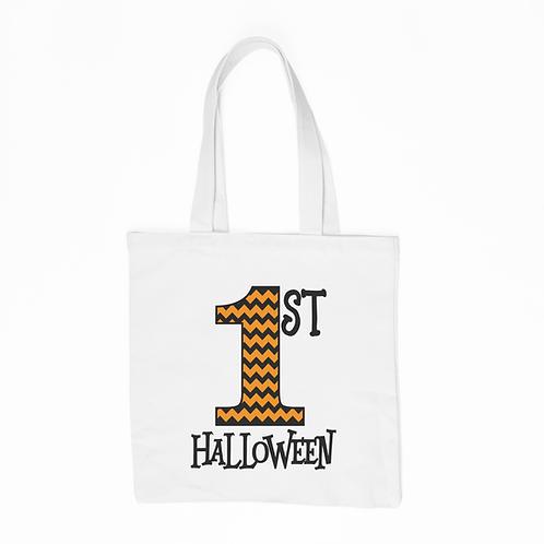 1st Halloween Tote Bag - White
