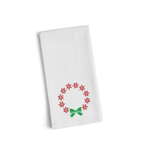 Bow Wreath Flour Towel