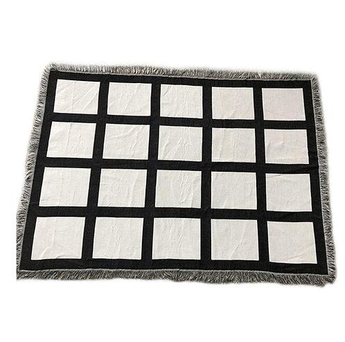 20 Panel Woven Throw Blanket