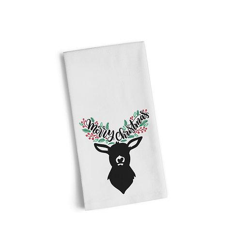 Reindeer Merry Christmas Flour Towel
