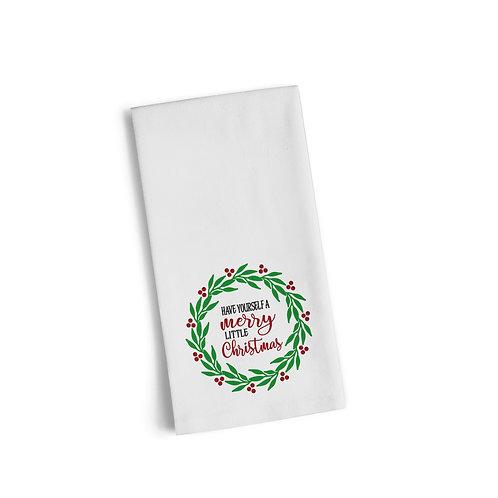 Merry Little Christmas Flour Towel