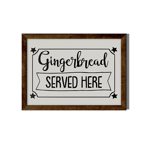 Gingerbread Served Here Reverse Canvas