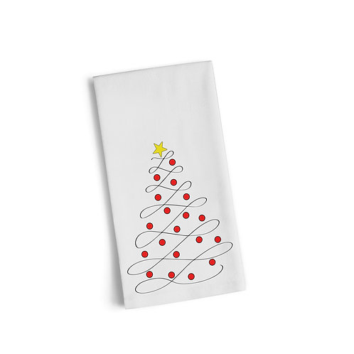 Christmas Tree Flourish Flour Towel
