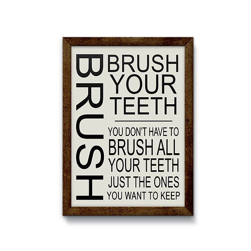 Brush Reverse Canvas