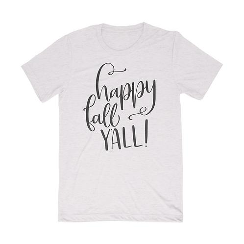 Happy Fall Y'all Short Sleeve Unisex T-Shirt