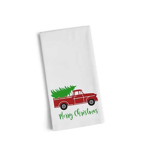 Christmas Red Truck Flour Towel