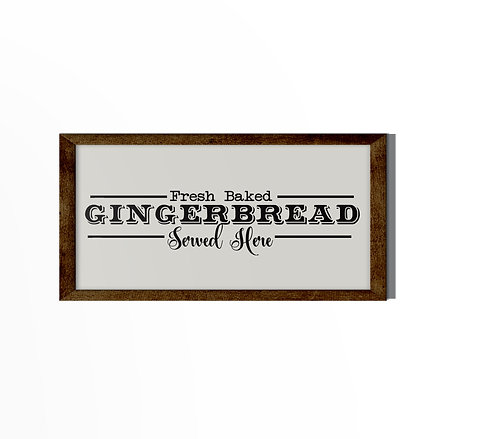 Fresh Baked Gingerbread Reverse Canvas