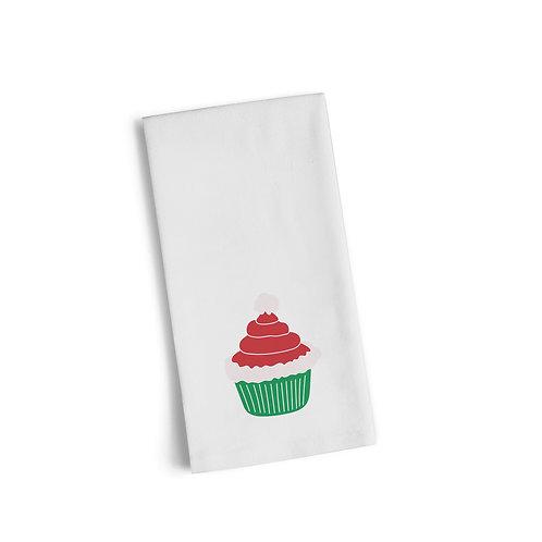 Santa Hat Cupcake Flour Towel