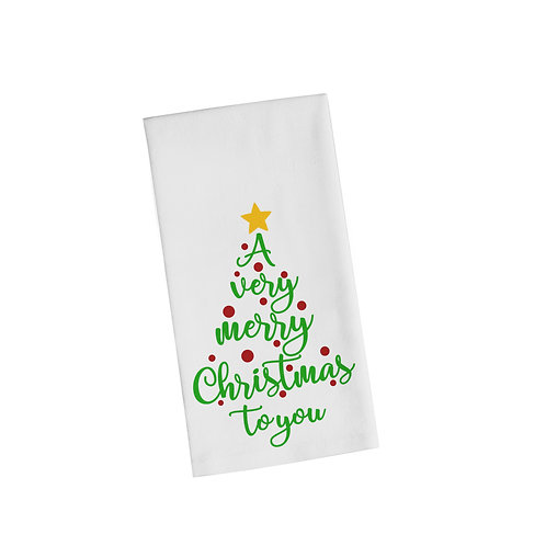A Very Merry Christmas To You Flour Towel