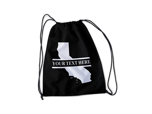 California Personalized Drawstring Bag