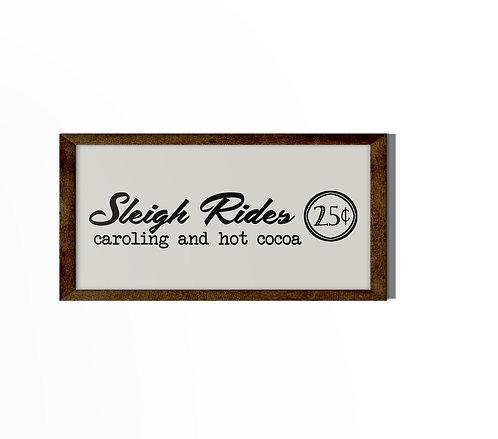 Sleigh Rides Reverse Canvas
