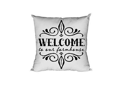 Welcome to Our Farmhouse Throw Pillow Case