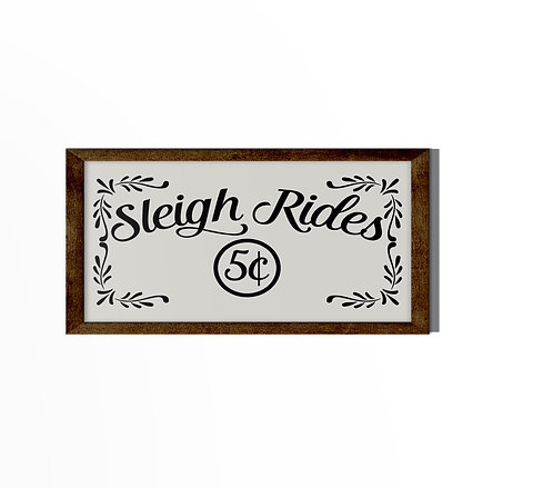 Sleigh Rides 5¢ Reverse Canvas