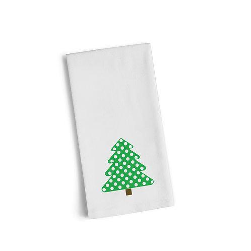 Green Christmas Tree 2 Flour Towel