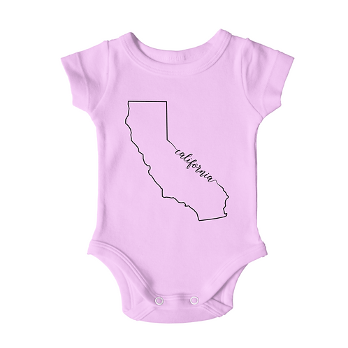 California CA Outline - Pink