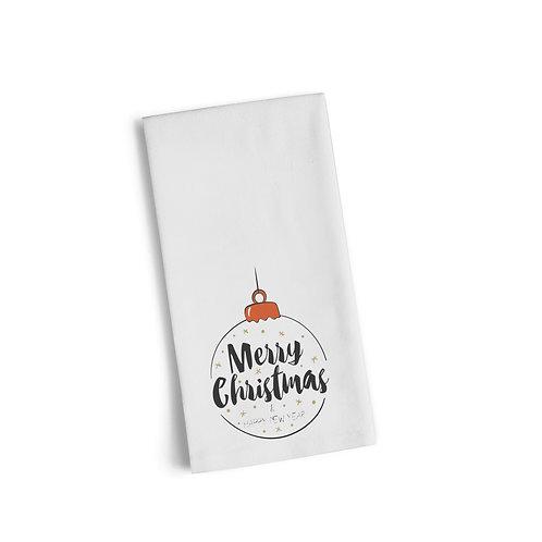 Merry Christmas Ornament Flour Towel