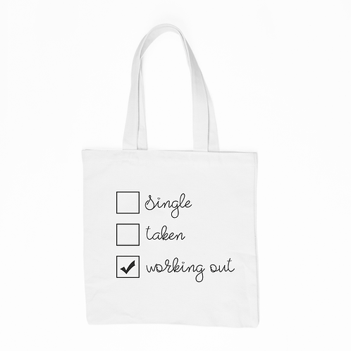 Working Out Tote Bag