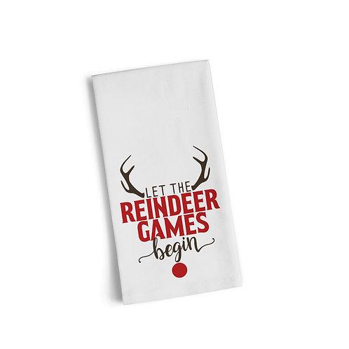Reindeer Games Flour Towel