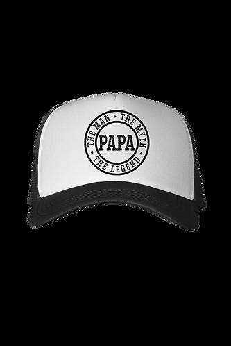 Man, Myth, Lengend - Papa Trucker Hat