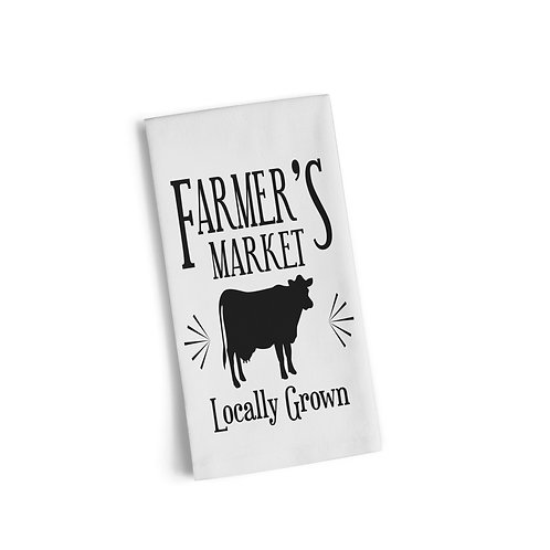 Farmers Market Locally Grown Flour Towel Sack