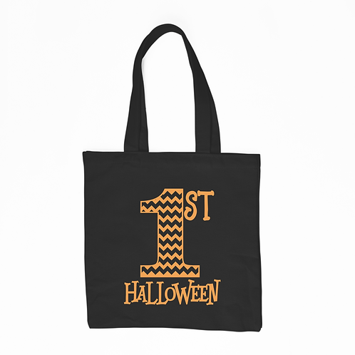 1st Halloween Tote Bag - Black