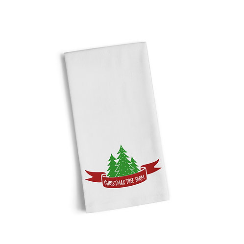 Merry Christmas Trees Flour Towel