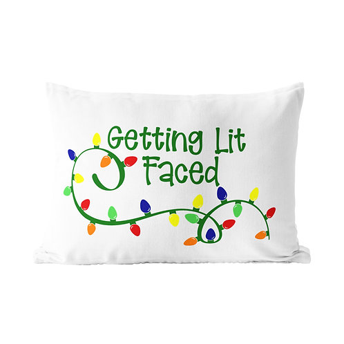 Get Lit Faced Queen Pillow Case