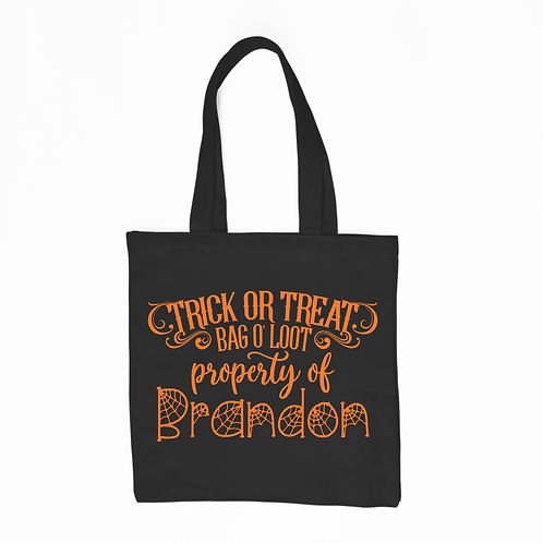 Personalized Bag O' Loot - Black