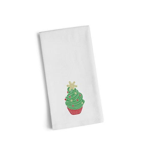Christmas Star Cupcake Flour Towel