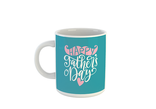 Pink & Teal Mustache - Fathers Day Mug