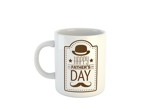MUSTACHE TOP HAT - Fathers Day Mug