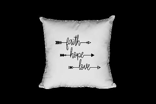 Faith Hope Love Arrows Pillow Case