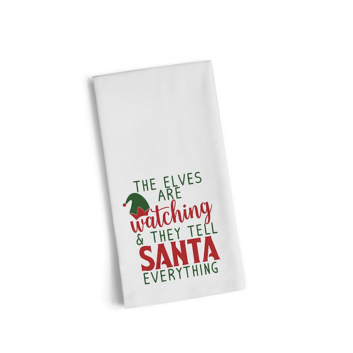 The Elves Are Watching Flour Towel