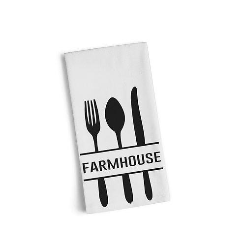 Farmhouse Utensils Flour Sack Towel
