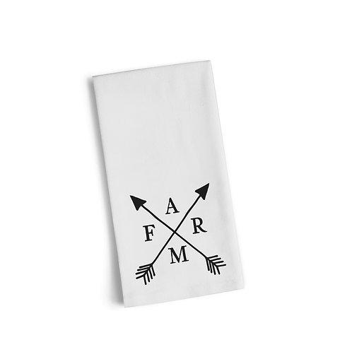 Farm Arrow Flour Sack Towel
