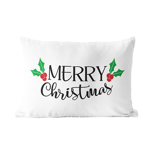 Merry Christmas Traditional Queen Pillow Case