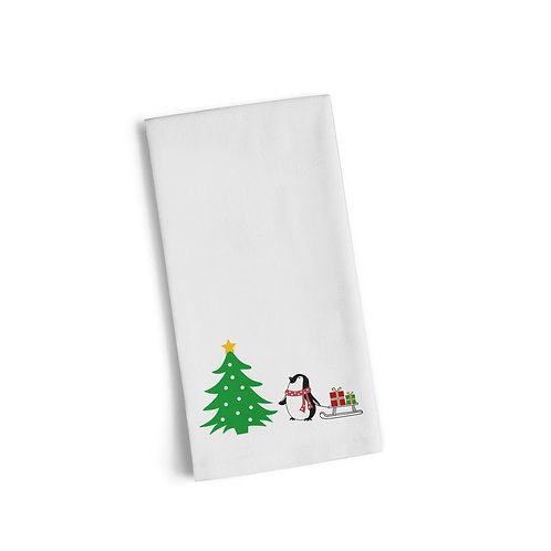 Penguin Sled Flour Towel