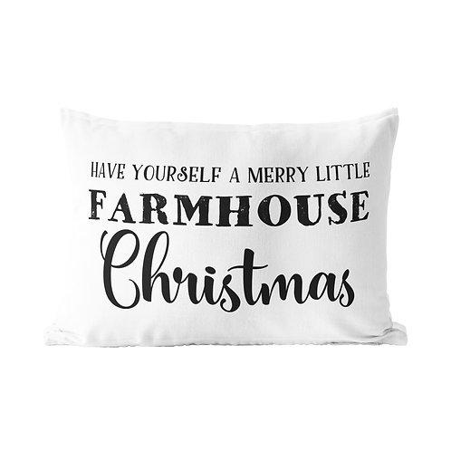 Merry Little Farmhouse Queen Pillow Case