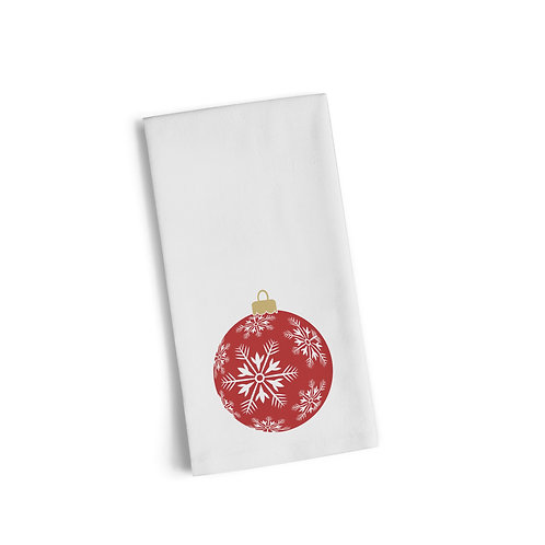 Red Ornament 2 Flour Towel