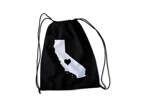 California Heart Drawstring Bag