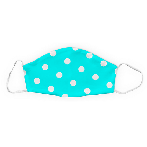 Teal Blue and Large Polka Dot