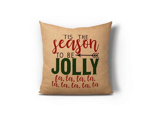 Tis the Season Burlap Pillow Case