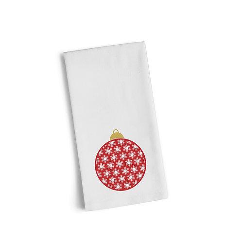 Red Ornament 3 Flour Towel
