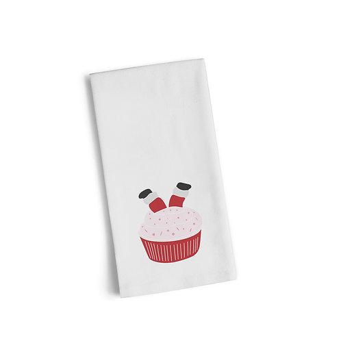 Santa Cupcake Flour Towel
