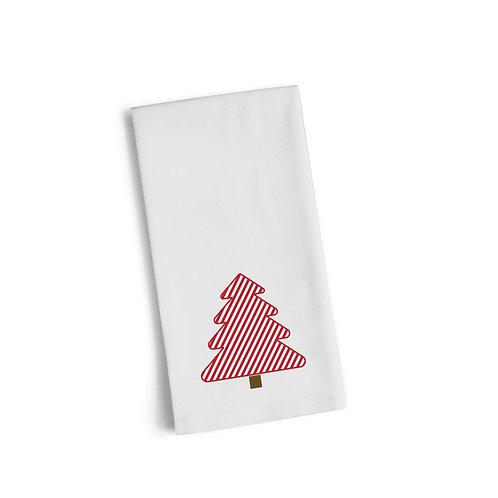 Red Christmas Tree 2 Flour Towel
