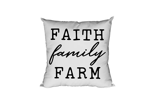 Faith Family Farm Throw Pillow Case