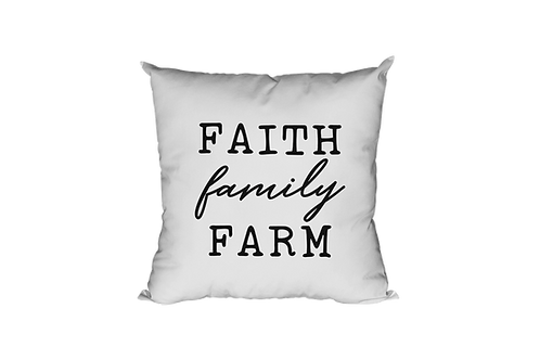Faith Family Farm Pillow Case