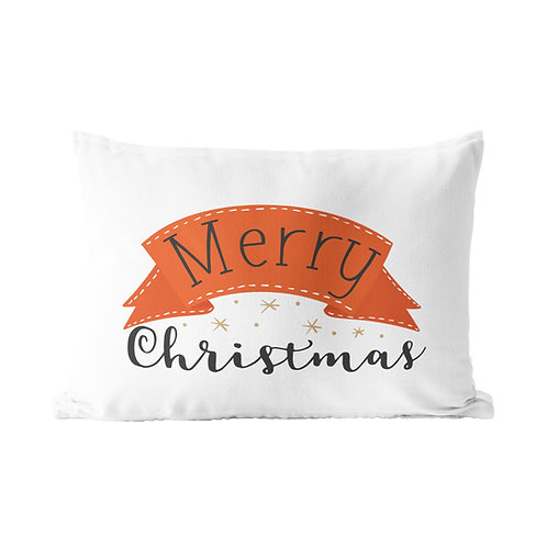 Merry Christmas Ribbon Pillow Case